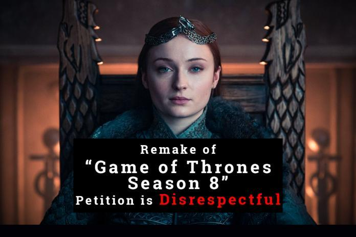 game of thrones, sophie turner, petition