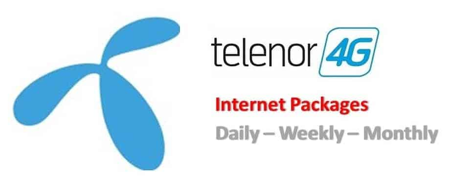 telenor 4g internet packages monthly