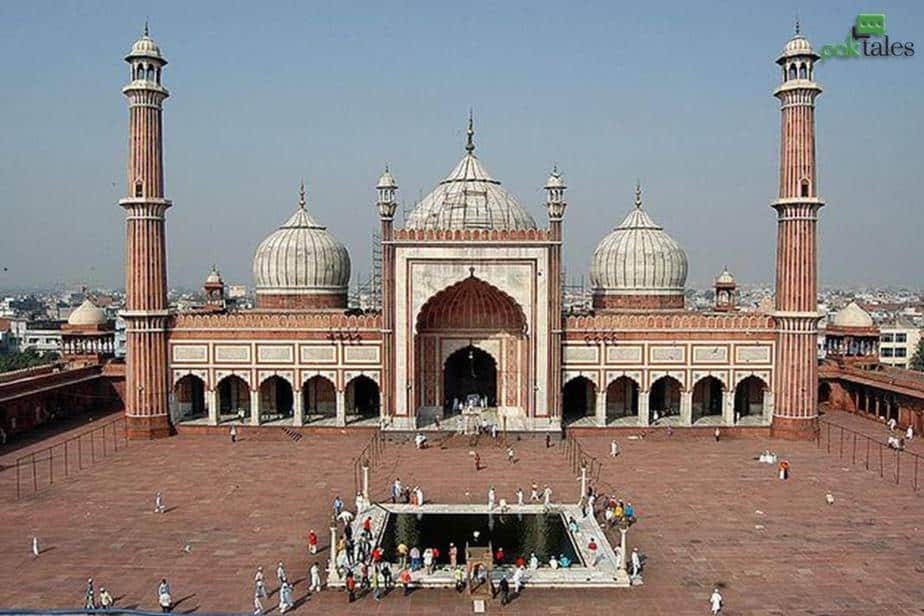 largest mosque in india , jama masjid history