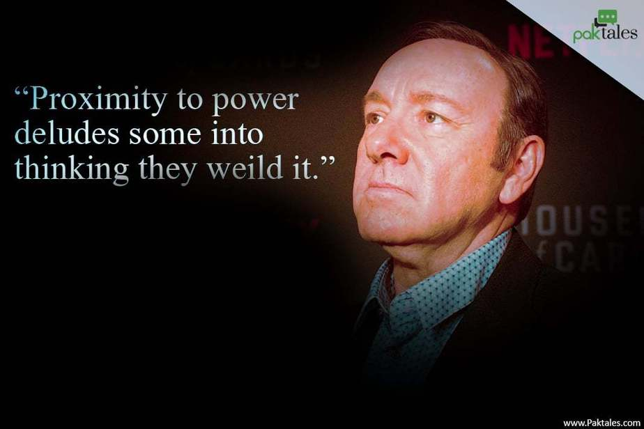 climbing to the top , frank underwood quotes