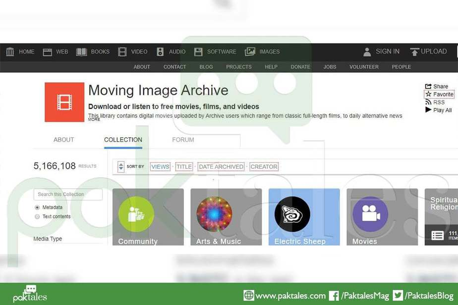 uploading videos, Internet Archive Video Section
