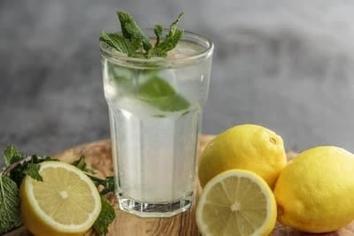 cold lemon water