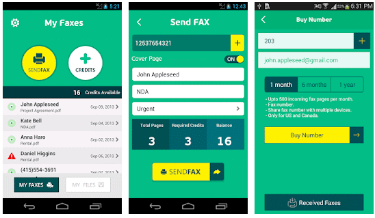 fax app for iPhone